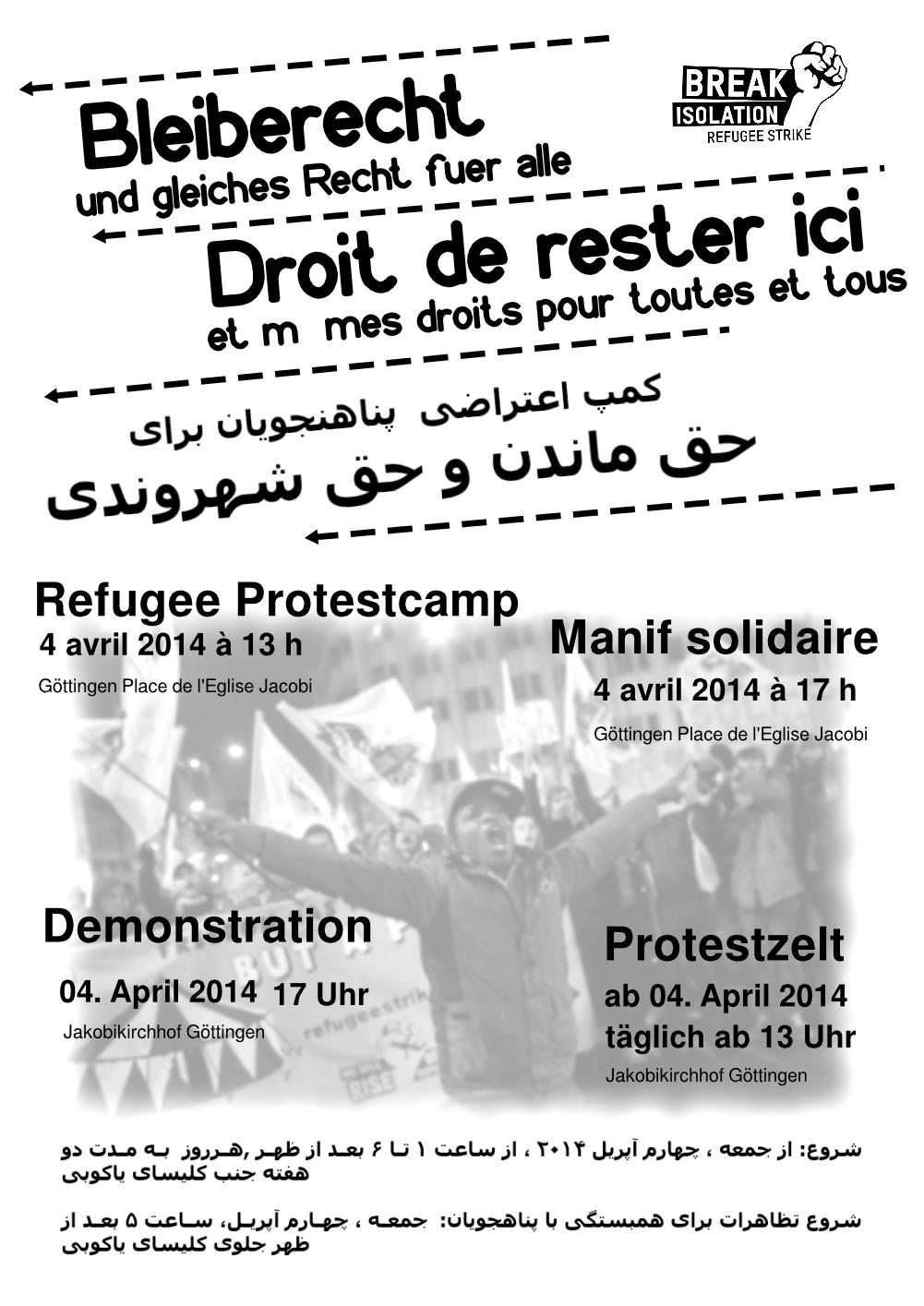 Refugee Protestcamp in Göttingen
